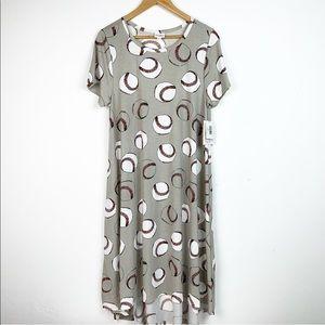 """New Lularoe Carly """"Baseball"""" Dress"""